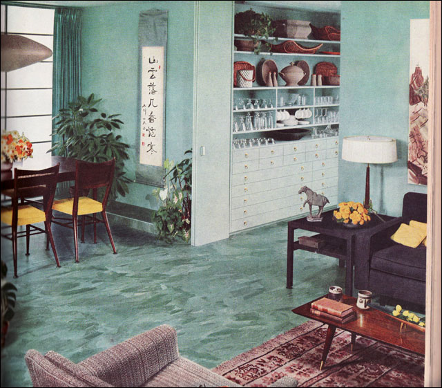 1956 Living - Dining Room - Asian