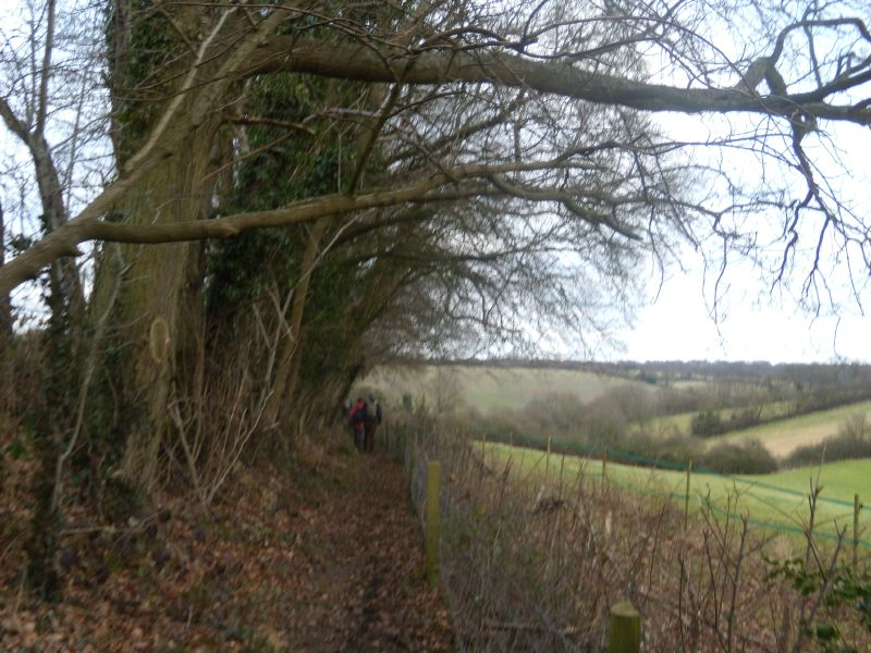 Along the top of a valley Chesham Circular