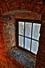 Graffiti brick window