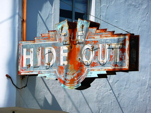 Alameda, CA The Hideout sign