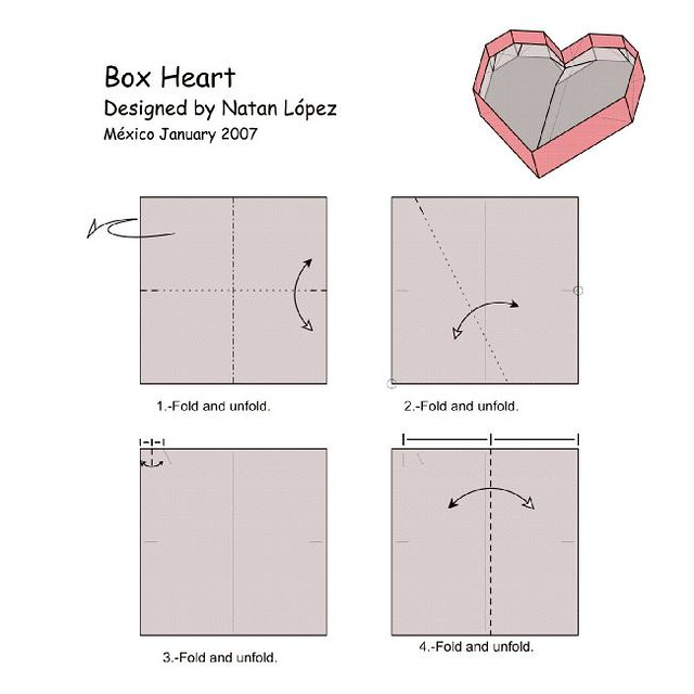 Origami Of Heart Box