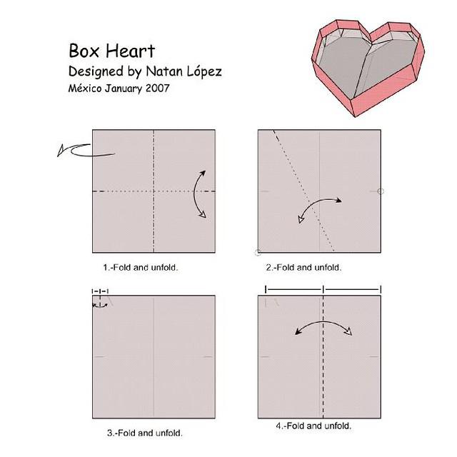 Origami Of Heart Box