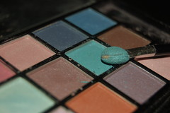 brown, green, eye shadow, blue,
