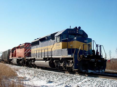 Northbound Iowa, Chicago & Eastern transfer train at Hawthorne Junction. Chicago / Cicero Illinois. January 2007. by Eddie from Chicago