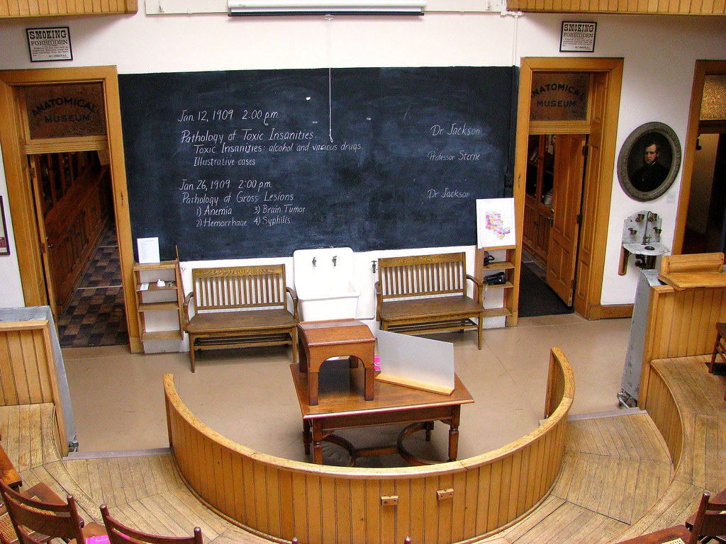Lecture Room In the Old Pathology Building at Central State Insane Asylum