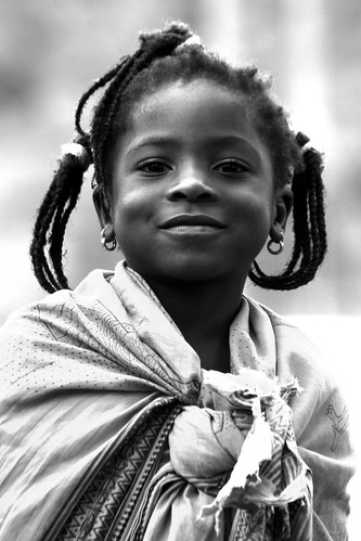 Little one from Goba. Girl portrait, Mozambique, Africa