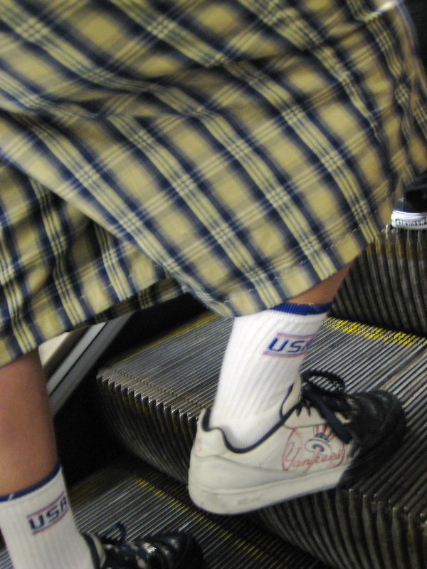 Baggy Shorts & Yankees Socks - New York Metro Escalator