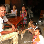 Dan with Chinese Kids - Xishuangbanna, China