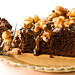 Caramel Popcorn-Topped brownie cake