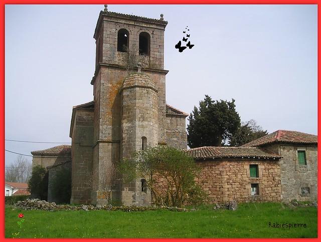 Barcenilla de Pisuerga (Palencia). Iglesia de Nuestra Señora de la Asunción. Torre
