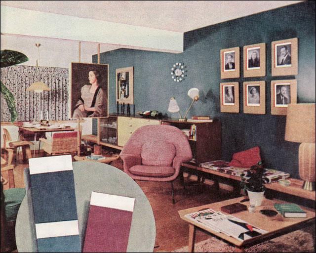 1952 Midcentury Modern Living Room