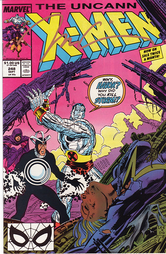 X-Men #248 signed by Jim Lee