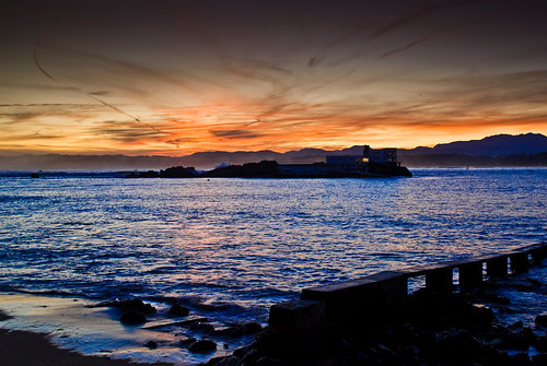 orange seascape sunrise flc 18200 santander cantabricsea sal18200 bahíadesantander biscaybay valdenoja sonylens alpha300 youlitooo northcoastspain