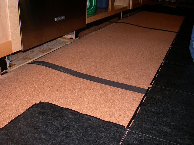 Linoleum over cork underlayment flickr photo sharing for Linoleum cork