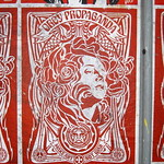 NYC - Brooklyn - Williamsburg - MÖTUG collective: OBEY Giant - Nouveau Red