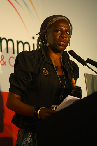 Baroness Lola Young gives the opening keynote address of the 4th World Summit on Arts & Culture