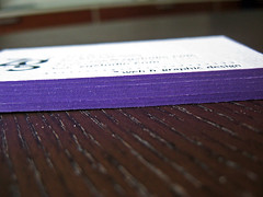 Zoë Grave Cards - Purple Edge Closeup