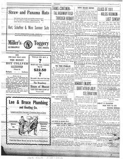 Lee Bruce ad 7-10-1913