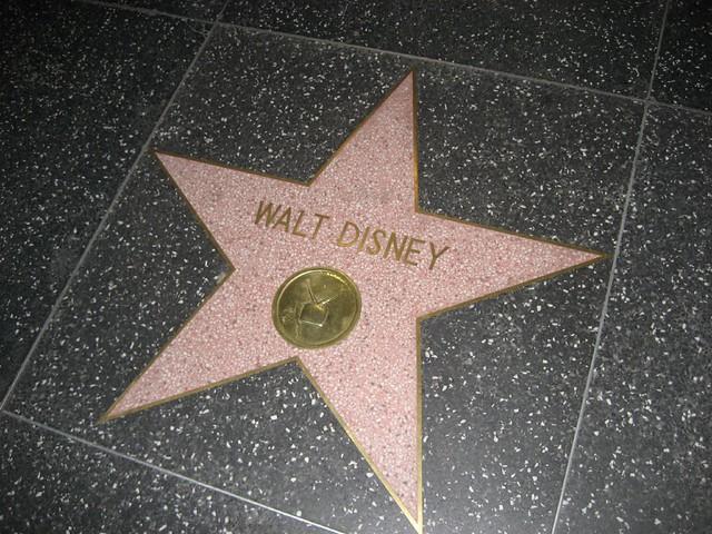 walt disney s star on the hollywood walk of fame 02 27