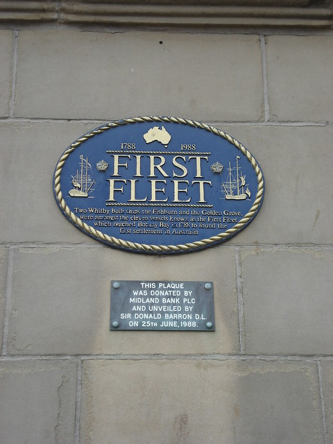 First Fleet Plaque 1788 1988 Whitby North Yorkshire