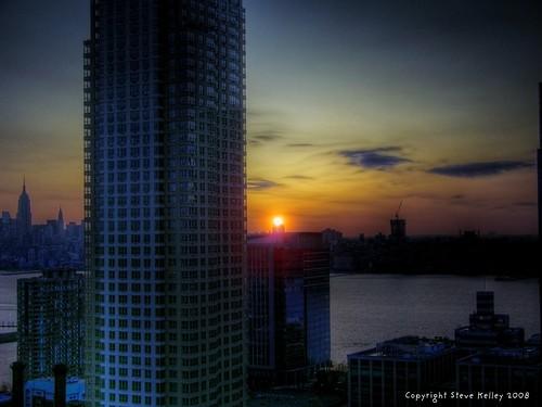 nyc newyorkcity ny newyork skyline skyscraper sunrise geotagged newjersey nikon jerseycity cityscape manhattan nj midtown hudsonriver empirestatebuilding empirestate donaldtrump trump hdr trumpplaza coolpix8700 mudpig stevekelley impressivemood