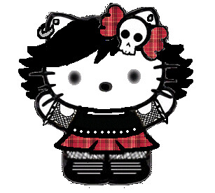 Emo Hello Kitty Drawings