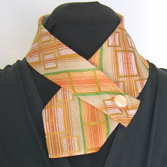 Orange and Green Necktie Wrap