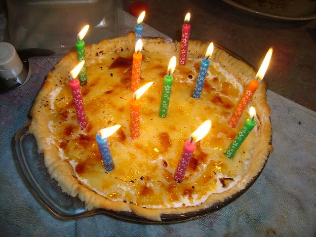 Creme Brulee Birthday Pie | Flickr - Photo Sharing!
