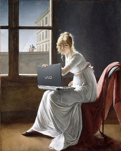 Young Woman Blogging, after Marie-Denise Villers