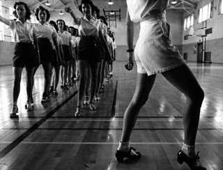 Jack Delano: Tap dancing class at Iowa State College, 1942
