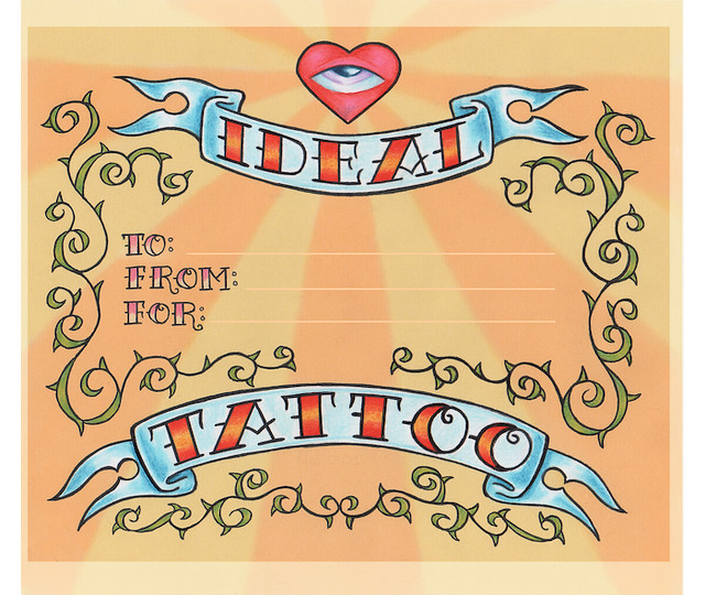 ideal tattoo gift certificate flickr photo sharing. Black Bedroom Furniture Sets. Home Design Ideas