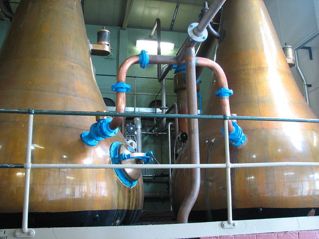 The two spirit stills at Lagavulin