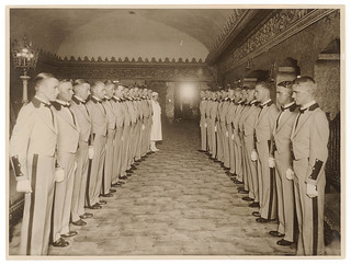 Ushers and one nurse line up in the foyer, Capitol Theatre, Sydney / Sam Hood