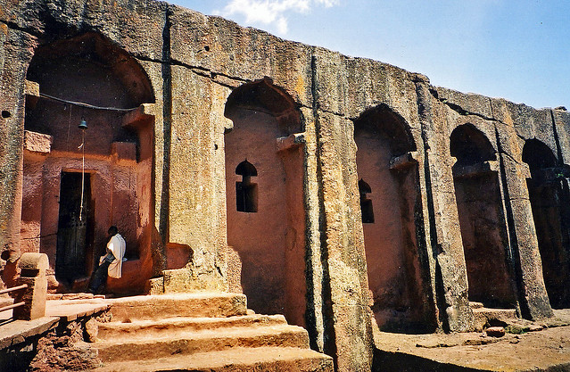 Gabrael rufael ancient bedrock church lalibela ethiopia