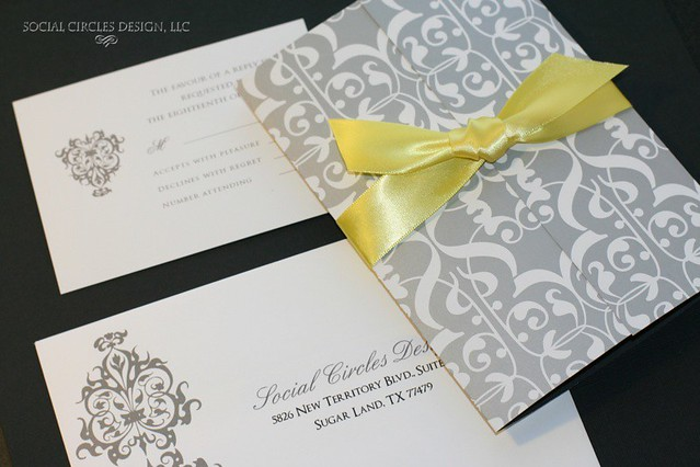 grey & yellow weddings - a gallery on flickr, Wedding invitations