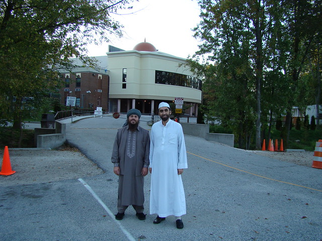 Brother Imam Mohamad Bashar Arafat & Me at Baltimore County Masjid