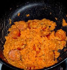 stew(0.0), curry(0.0), vegetable(0.0), produce(0.0), meat(1.0), food(1.0), dish(1.0), cuisine(1.0), jambalaya(1.0),