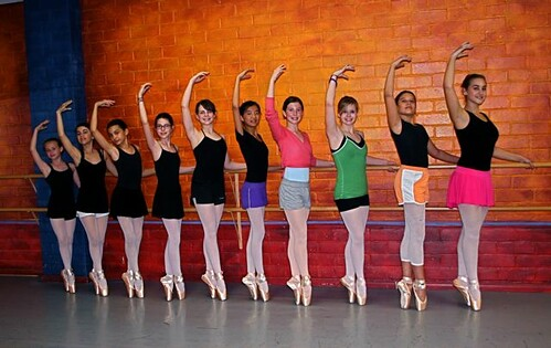 Pointe Class Posing in Sous Sus Croisse Arm Fifth en Haut, in Shiny New First Pink Satin Pointe Shoes! - Explored