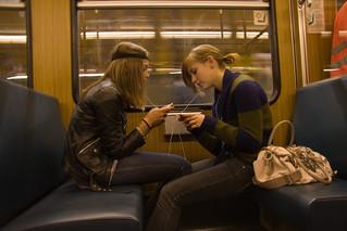girls sharing