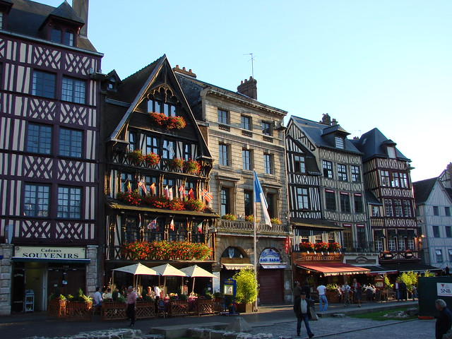 Bright and colourful Rouen streets