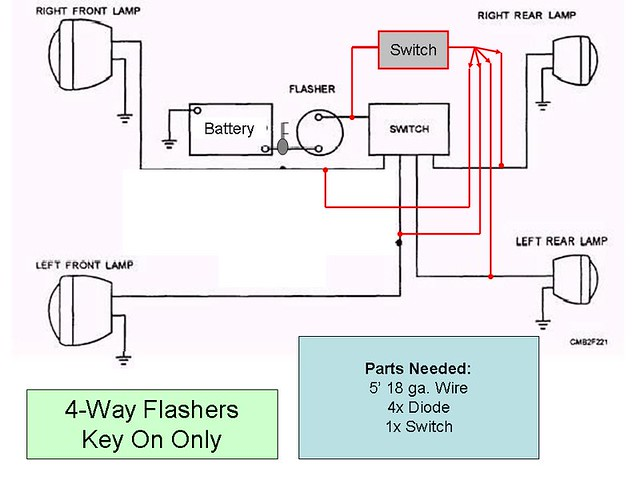 4 way flasher wiring diagram 4 way switch wiring diagram with 2 lights 4-way flasher; key on only | flickr - photo sharing!