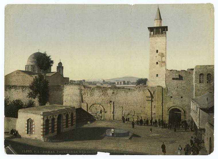 Damas : porte de la rue Droite, Bab-Charki.