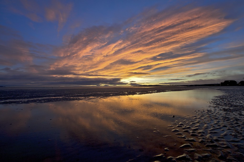 Winter Solstice Sunrise, Ireland, Dublin, Sandymount Strand, 2008