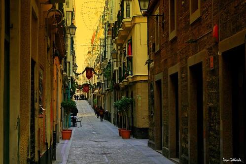 Cadiz Altstadt Gassen Calles
