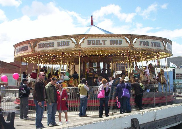 Steam powered carousel