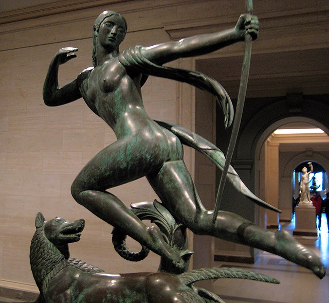Diana And A Hound, 1925 (Sculpture) At