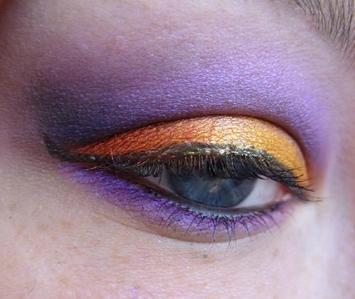 eye makeup designs pictures gallery shimmer orange purple eyeshadow. Black Bedroom Furniture Sets. Home Design Ideas