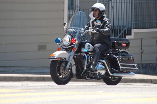 Police Bike Close