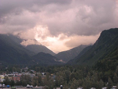 cruise alaska clouds sunrise photo scenic skagway whitepass