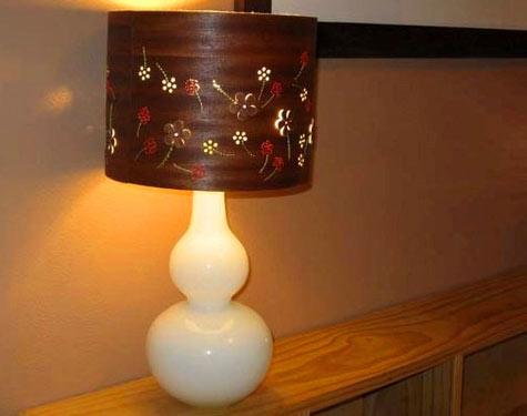 Diy project bridget s wood veneer lamp design sponge for Wood veneer craft projects